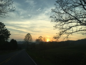 Sunset over the NC foothills