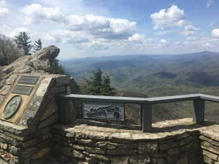 The Blowing rock is on the left